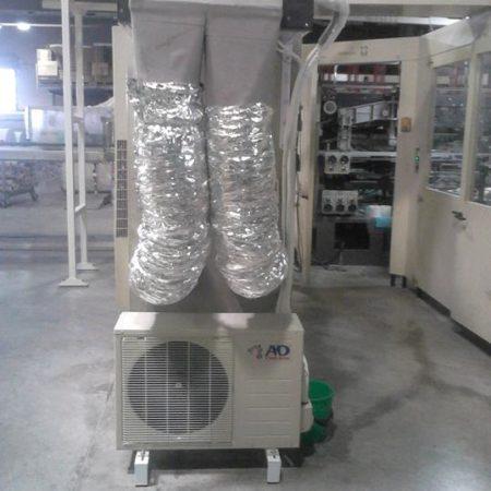 Τοποθέτηση κλιματιστικών οροφής με κανάλια στη χαρτοβιομηχανία