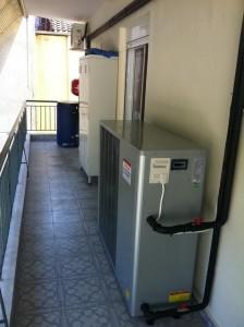 Η αντλία θερμότητας POLARIS 13 KW στο διαμέρισμα της κ. Ουρανίας Γεωργοπούλου