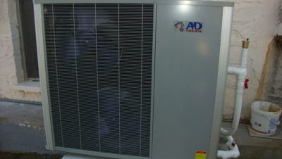 Η αντλία θερμότητας υψηλών θερμοκρασιών στην οικία του κ. Βασίλη Μακροβασίλη στο Νέο Παντελεήμονα Πιερίας