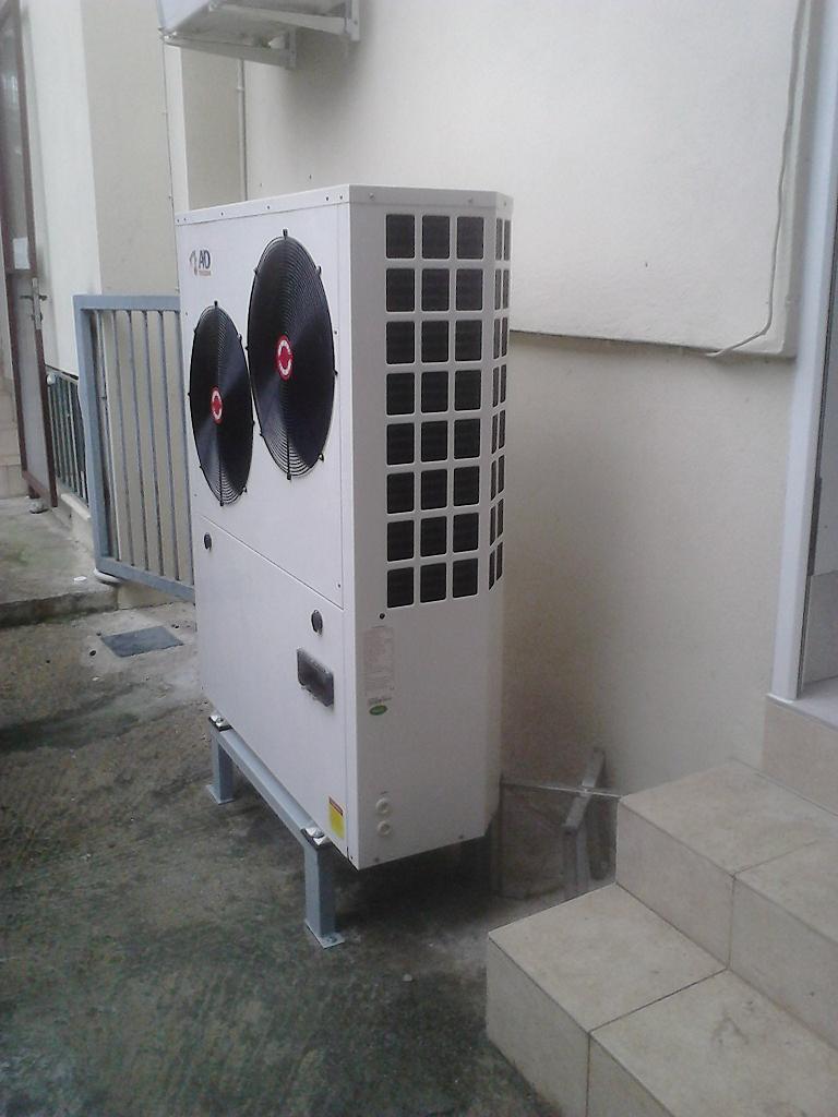 Η αντλία θερμότητας χαμηλών θερμοκρασιών 13 KW στην οικία του κ. Γιώργου Μπίνου στην Κατερίνη