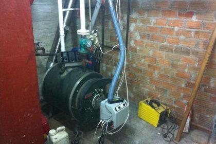 Καυστήρας πέλλετ ADGREEN B-ECO σε λέβητα πετρελαίου στη Χάλκη Λάρισας