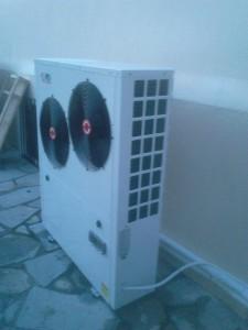 Η αντλία θερμότητας συνδέθηκε σε ενδοδαπέδιο σύστημα θέρμανσης 160 τ.μ.