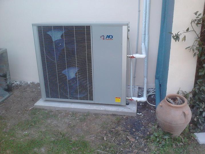 Η αντλία θερμότητας υψηλών θερμοκρασιών POLARIS 17 KW που τοποθετήθηκε στην οικία του κ. Βύρωνα Πασχαλίδη