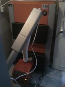 Ο λέβητας πέλλετ ADGREEN 55 ΚW που εγκαταστάθηκε στο Ρετζίκι