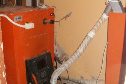 Καυστήρας πέλλετ ECO σε λέβητα ξύλου