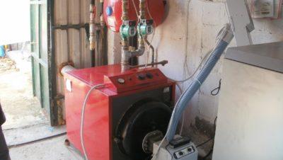 Καυστήρας πέλλετ B-ECO σε λέβητα πετρελαίου