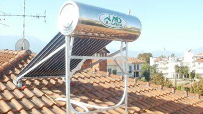 Ηλιακός θερμοσίφωνας 160 λίτρων με λάμπες κενού