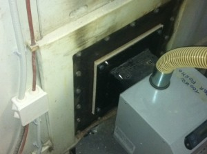 Καυστήρας πέλλετ ADGREEN 100 KW σε φούρνο