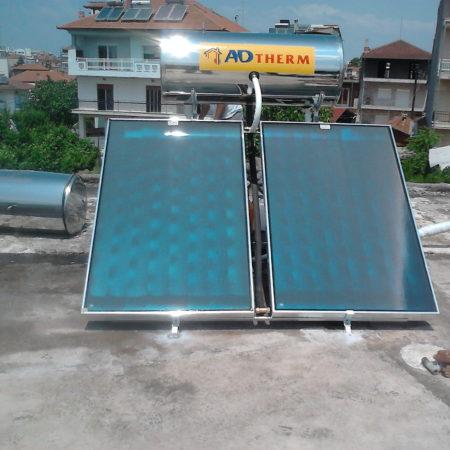 Ηλιακός θερμοσίφωνας 200 λίτρων στην Κατερίνη