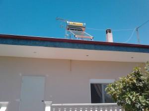 Ηλιακός θερμοσίφωνας στη Βροντού Πιερίας