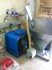 Αλέξανδρούπολη Καυστήρας πέλλετ ADGREEN B-ECO 35 KW σε λέβητα πετρελαίου