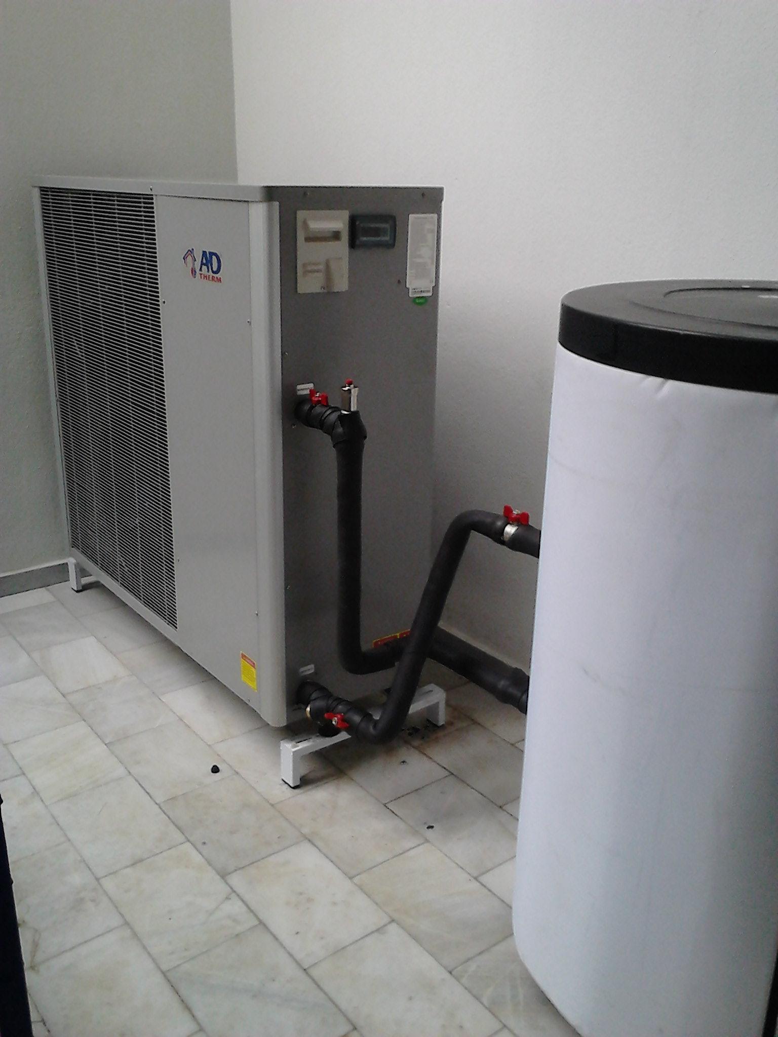 Αντλία θερμότητας υψηλών θερμοκρασιών POLARIS 13 KW στην Κατερίνη