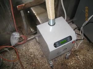 Καυστήρας πέλλετ ADGREEN OVEN σε φούρνο στην Πελασγία