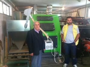 Εγκατάσταση λέβητα 250kw με καυστήρα πελλετ ADGREEN 250kw