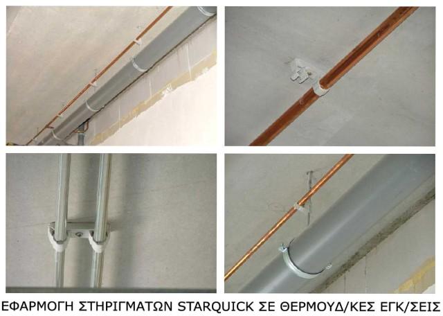 Σύστημα στερέωσης σωλήνων STARQUICK