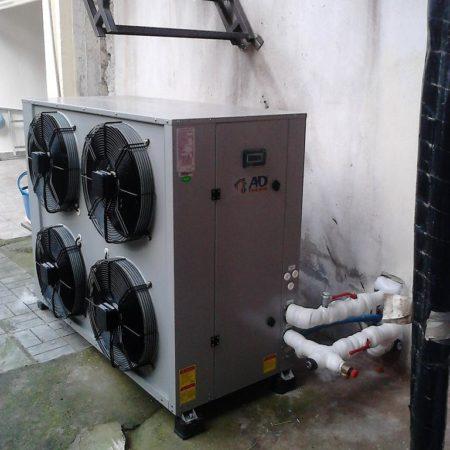 Εγκατάσταση με αντλία θερμότητας polaris