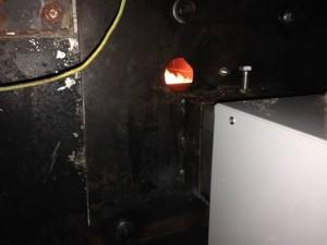 προσαρμογή του καυστήρα πελλετ στον φούρνο
