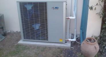 Εγκατασταση με αντλία θερμότητας polaris 17kw