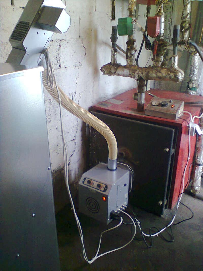 καυστηρας βιομάζας σε λέβητα πετρελαιου