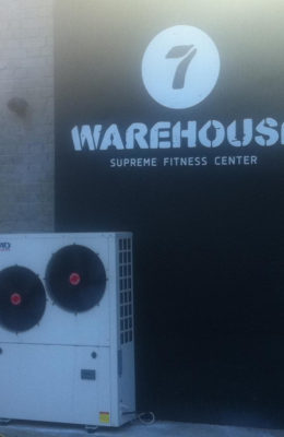 αντλία θερμότηας στο γυμναστηριο warehouse7