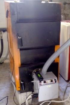 καυστήρας πελλετ σε λέβητα saturn