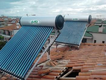 ηλιακοί θερμοσίφωνες με σωλήνες κενού σε ενοικιαζόμενα δωμάτια