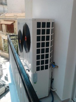 Αντλία θερμότητας σε διαμέρισμα στη Θεσσαλονίκη