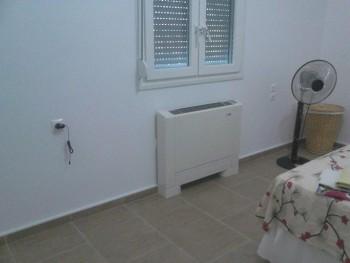 τοποθέτηση αντλία θερμότητας και fan coil σε μονοκατοικία