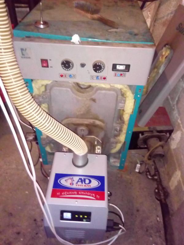 Μετατροπή σε μαντεμένιο λέβητα πετρελαίου με καυστήρα Bmix Digital 45kw