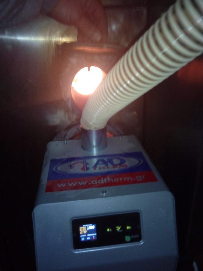 Μετατροπή φούρνου με καυστήρα βιομάζας Bmix Digital