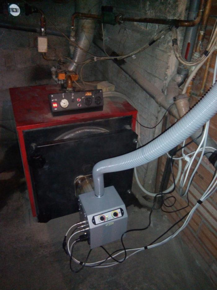 Μετατροπή σε λέβητα πετρελαίου 40KW Χαλύβδινο