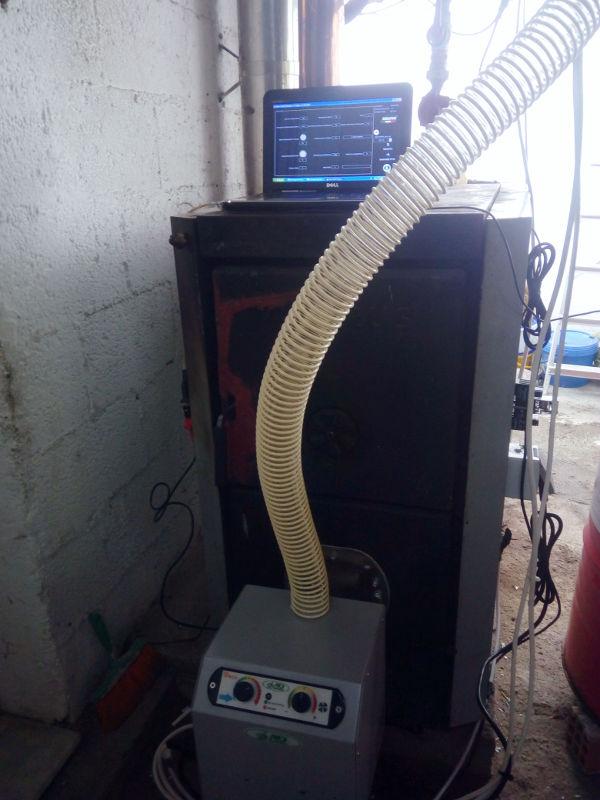 Τοποθέτηση B-ECO 45KW σε ξυλολέβητα VIADRUS