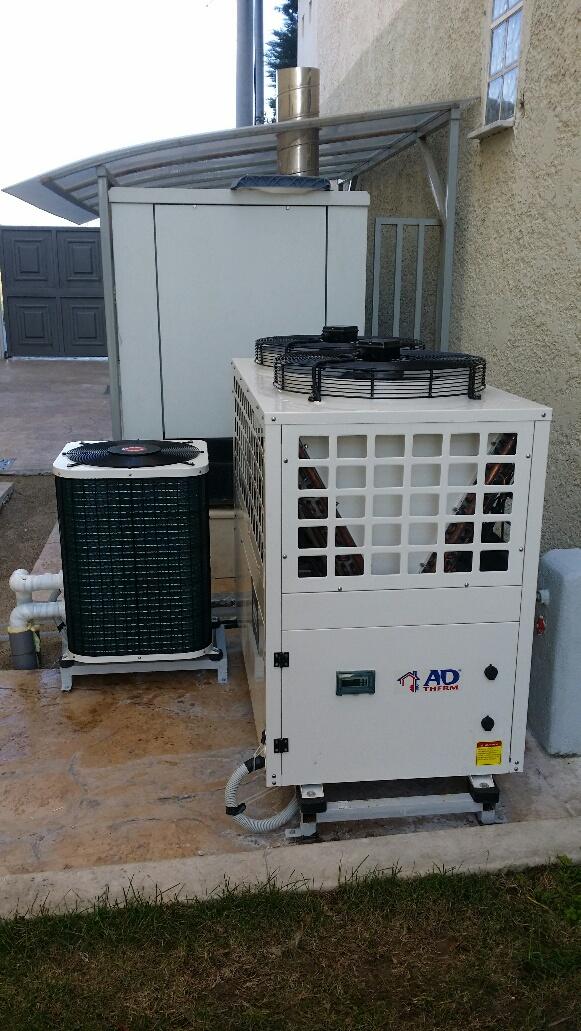 Αντλίες θερμότητας για πισίνα και παραγωγή ζεστού νερού χρήσης στο ξενοδοχείο
