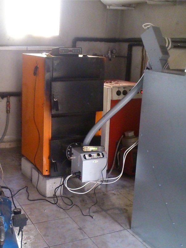 Προσαρμογή καυστήρα πελετ B-ECO 45kw σε λέβητα ξύλου SATURN