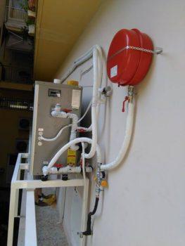Αντλία θερμότητας σε μπαλκόνι στην Κατερίνη