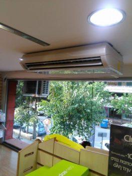 Κλιματιστικό δαπέδου οροφής σε κατάστημα στην Τούμπα Θεσσαλονίκης