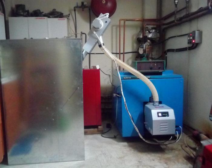 Μετατροπή από πετρέλαιο σε πελλετ με τον καυστήρα Βιομάζας Bmix Digital