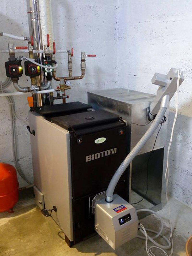 Εγκατάσταση λέβητα πελλετ BIOTOM στο Στεφανοβικιο βόλου