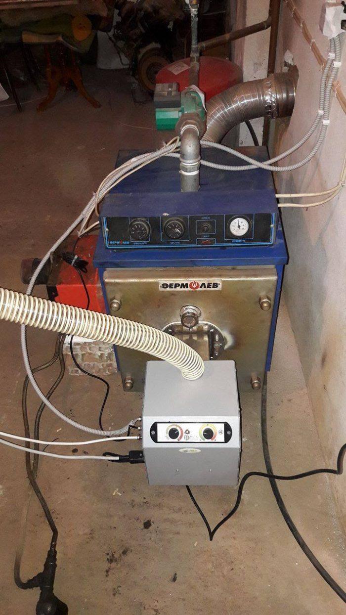 Μετατροπή σε λέβητα πετρελαίου thermolev με καυστηρα pellet