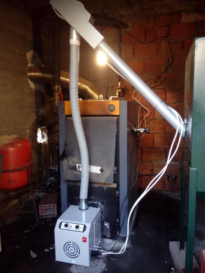 Τοποθέτηση καυστήρα πελλετ σε υπάρχον εγκατεστημένο λέβητα ξύλου στην βροντού