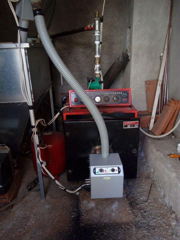 μετατροπή σε χαλύβδινο πετρελαίου με καυστήρα B-eco στα Σιάτιστα Κοζάνης