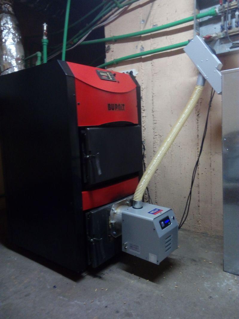 Αλλαγή με καυστήρα βιομάζας Bmix σε λέβητα ξύλου Burnit στον Εύοσμο