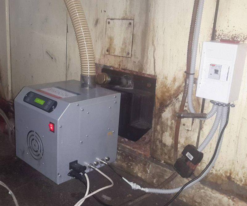 Μετατροπή σε φούρνο αρτοποιίας 12 τελάρων με τον καυστήρα pellet SP100 στον Πύργο Ηλείας