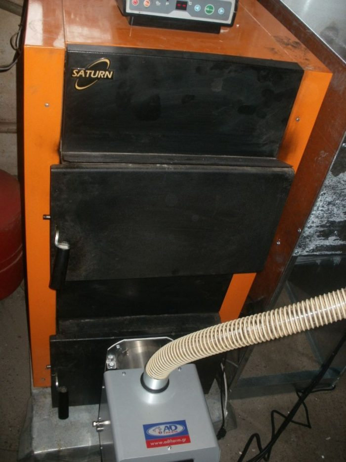 Μετατροπή λέβητα ξύλου Saturn σε πελλετ με τον καυστήρα Bmix Digital 45kw στα Σέρβια Κοζάνης