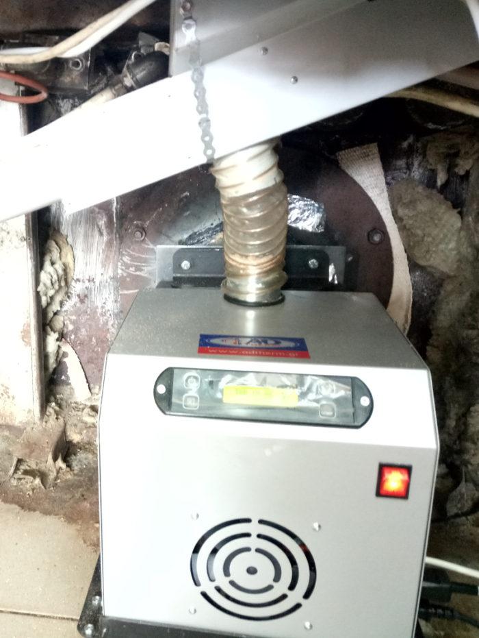 Καυστήρας πελλετ σε φούρνο αρτοποιΐας OVAK με πετρέλαιο στην Κομοτηνή