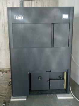 Εγκατάσταση λέβητα πελλετ Toby Blackstar στην Ορεστιάδα