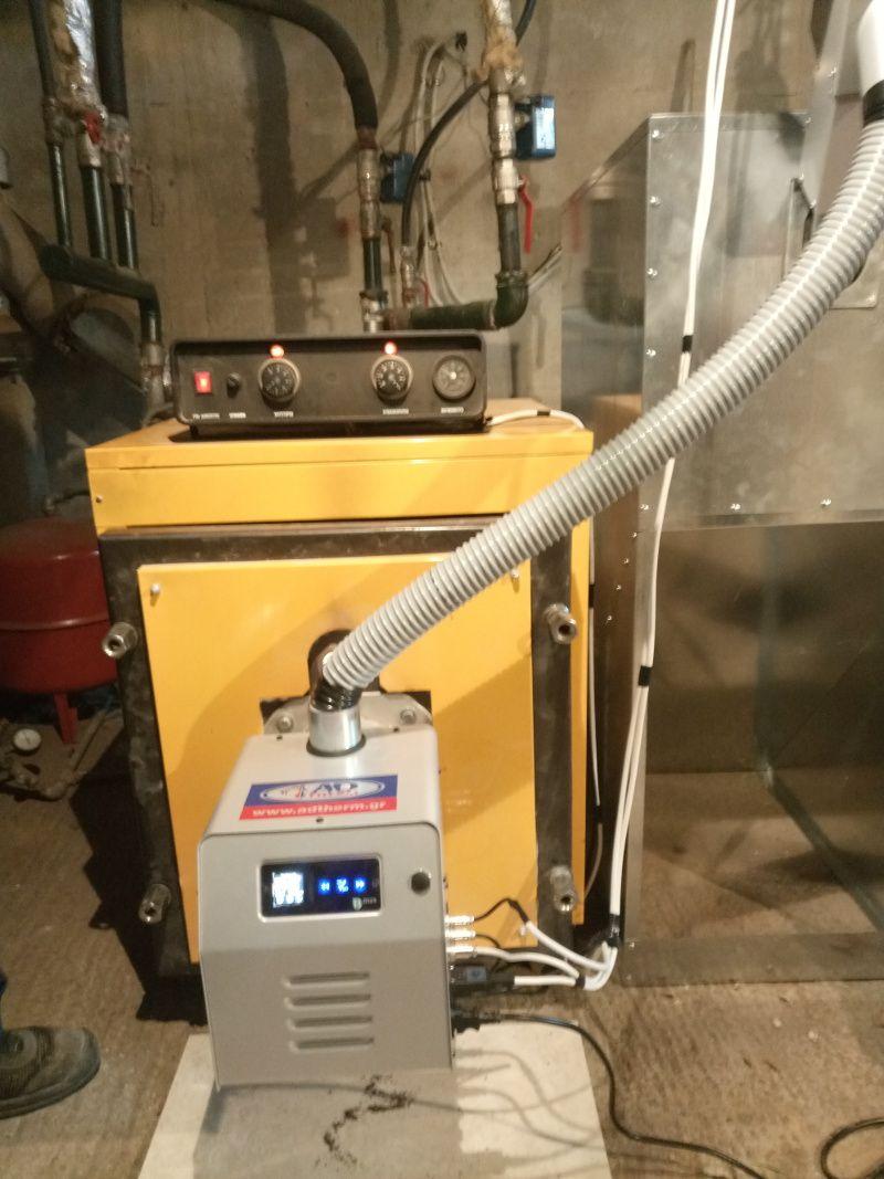 Μετατροπή σε λέβητα πετρελαίου Thermostahl με τον καυστήρα Bmix Digital