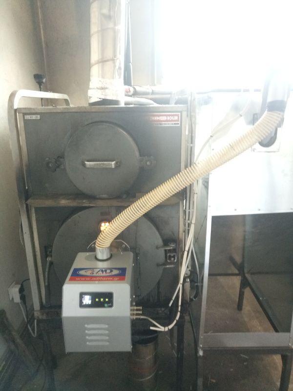 Αλαγή καυσίμου από ξύλο σε πελλετ στον ξυλολέβητα KITURAMI στην Κομοτηνή