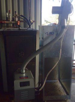 Μετατροπή μαντεμένιου ξυλολέβητα Viadrus σε πελλετ με καυστήρα Bmix Digital