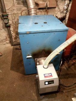 Μετατροπή σε λέβητα πετρελαίου Buderus σε πελλετ με καυστήρα Bmix στο Κιλκίς